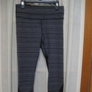 Lululemon Black & Gray Print Leggings Size 4